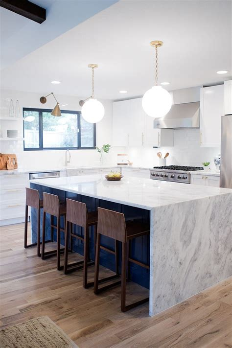 mid century kitchen island a kitchen reveal for a mid century modern remodel white 7494