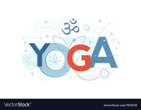 Yoga Word Typography Royalty Free Vector Image