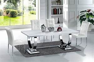 Table à Manger Blanche : salle manger design modernit et convivialit ~ Teatrodelosmanantiales.com Idées de Décoration