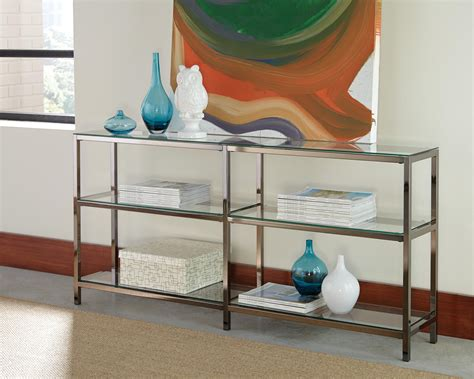Glass Bookcase Shelves by Bookcases Industrial Metal Bookcase Console With Glass