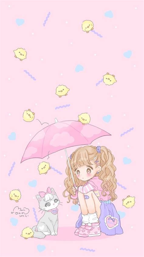 Find the best cute anime background on getwallpapers. Idea by Chelsey Donholt on Kawaii | Cute pastel wallpaper, Kawaii wallpaper, Kawaii drawings