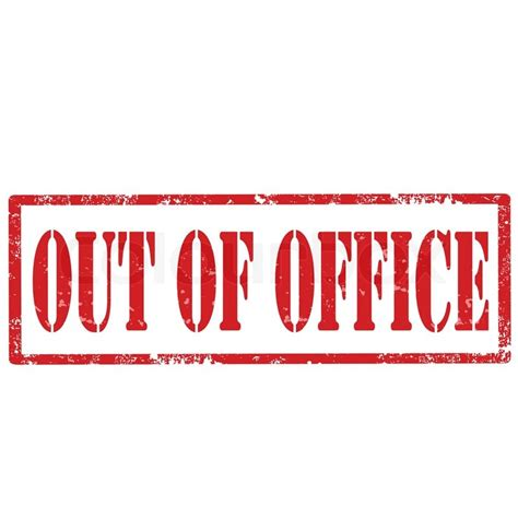 Out Of Office by Grunge Rubber St With Text Out Of Office Vector