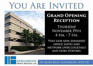 Grand Opening Event - Northbrook Office Rentals