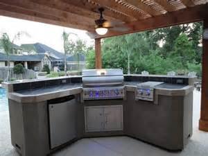 kitchen island l shaped barbacoas de obra y cocinas exteriores