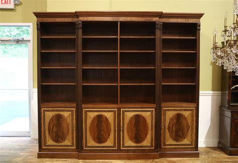 Large American Made Mahogany Bookcase