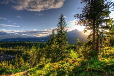 parks canada scenery sky jasper hdr nature wallpaper