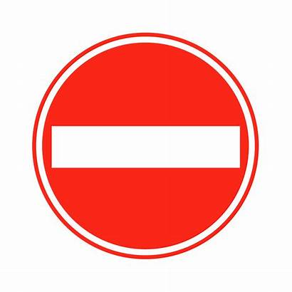 Entry Sign Signs Traffic Clipart Road Clip