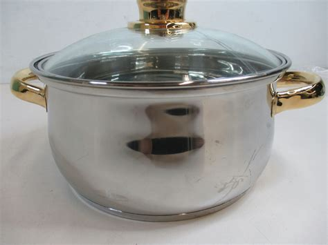 pot cuisine cuisine cookware command performance gold 3 5 qt stock pot