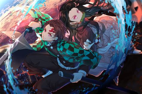 demon slayer kimetsu  yaiba hd wallpaper sfondo