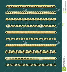 Gold Chain Designs Stock Vector Illustration Of Isolated