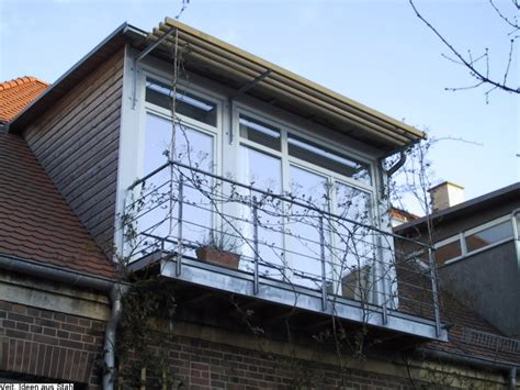 dachgaube mit balkon kosten schlosserei veit stahl metallbau balkone