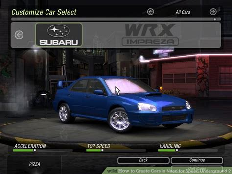 How To Create Cars In Need For Speed Underground 2
