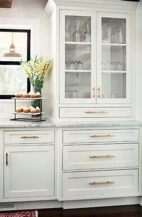 white kitchen cabinets  brass hardware design ideas