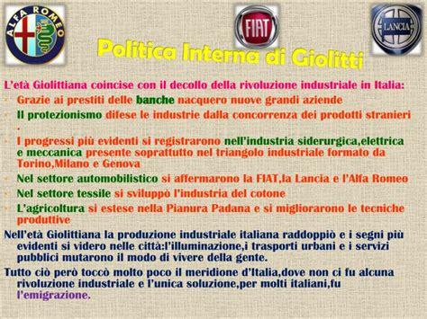 Politica Interna Giolitti by Ppt L Italia Nell Et 224 Giolittiana Powerpoint