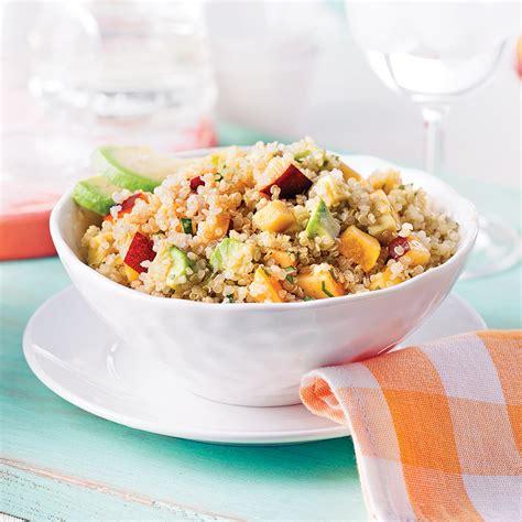 cuisine avocat salade de quinoa nectarine et avocat recettes cuisine