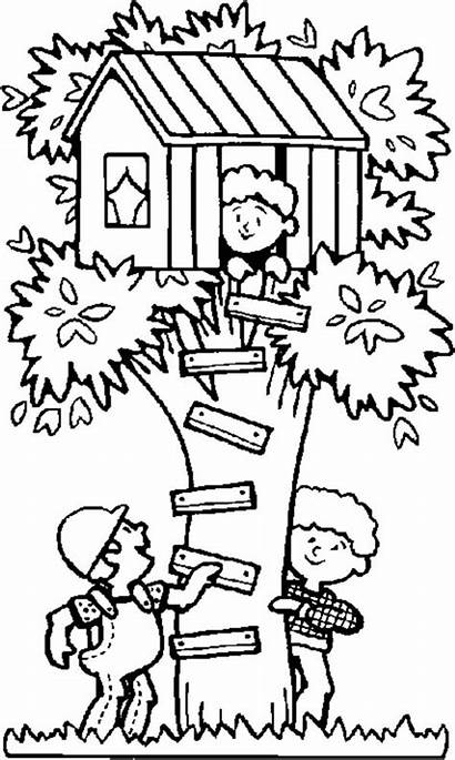 Coloring Treehouse Seek Tree Hide Playing Pages