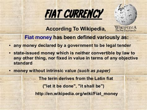 By Fiat Definition by Fiat Currency History The Real Cause Of Collapse For
