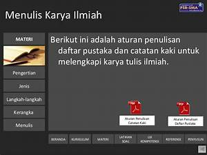 Contoh Daftar Pustaka Karya Ilmiah Bahasa Indonesia