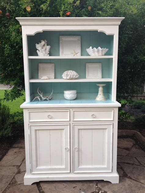 refurbish kitchen cabinets hutch and cabinet white with aqua blue 1815