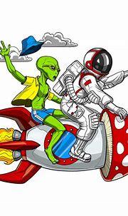 Alien Astronaut Psychedelic Trip Digital Art by Nikolay ...