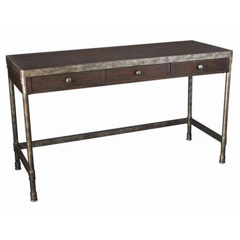 distressed wood computer desk structure computer desk in distressed brown t3002085 00