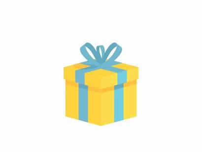 Gift Box Explode Dribbble Animated Animation Gifts