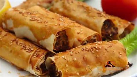 borek turque à la viande hachée بوراك تركي باللحم المفروم