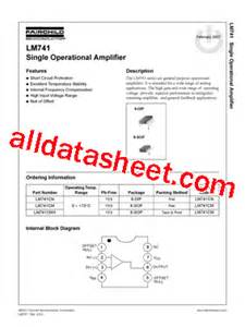 LM741 Datasheet(PDF) - Fairchild Semiconductor
