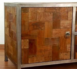 Tv Schrank Metall : java metall trifft teak sideboard kommode tv schrank hifi m bel phonoschrank ebay ~ Indierocktalk.com Haus und Dekorationen