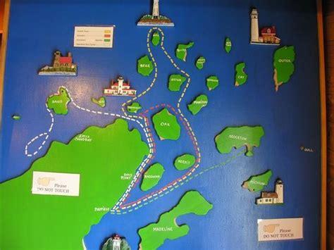 apostle islands national lakeshore map photo
