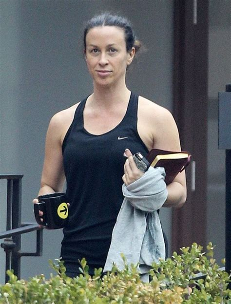 Alanis Morissette - Leaving the Gym in Brentwood ...