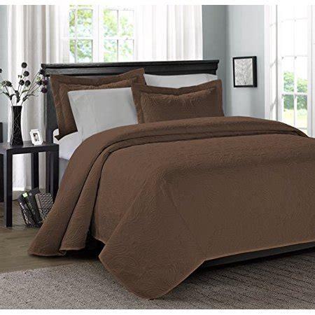 Cheap Coverlets by 3 Mikanos Ultrasonic Embossed Clearance Bedding