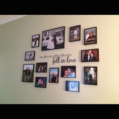 master bedroom wall collage for the home