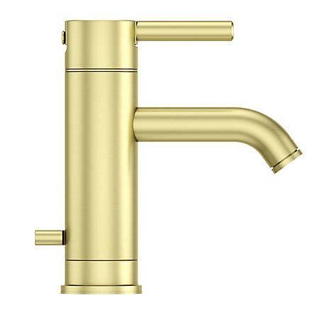 brushed gold bathroom faucet brushed gold contempra single centerset bath