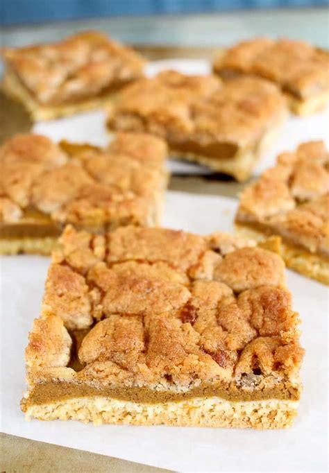 pumpkin pie bars  cake mix  turtles life