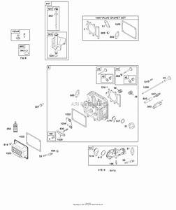 Briggs And Stratton 31e577-0115-g5 Parts Diagram For Cylinder Head  Gasket Set