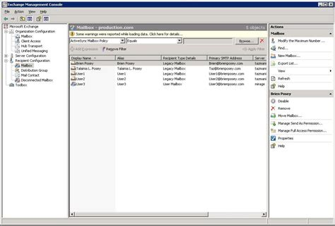exchange management console how to use exchange management shell s filter command