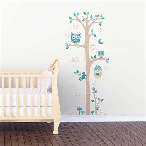 stickers chambre bébé leroy merlin sticker mural quot toise chouettes gris et bleu quot motif bébé