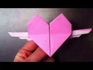Comment Faire Des Origami : faire un c ur ail en origami tutoriel coeur ail ~ Nature-et-papiers.com Idées de Décoration