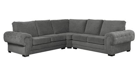 Corner Sofa Cushions by Chesterfield Style Big Verona Corner Sofa Grey Fabric