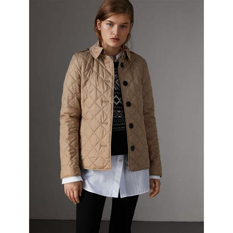 s burberry quilted jacket quilted jacket in canvas burberry united
