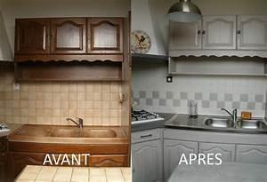 renover cuisine bois relooker des meubles de cuisine en With renovation meuble cuisine en chene