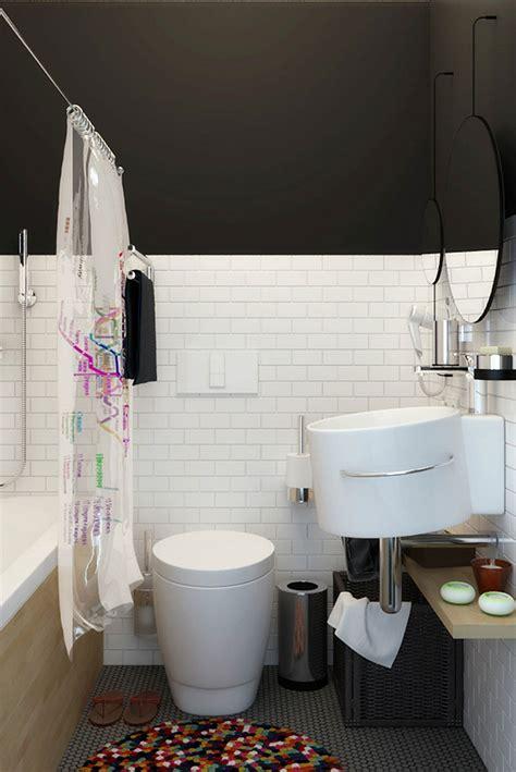 tiny apartment  black  white charms  space saving