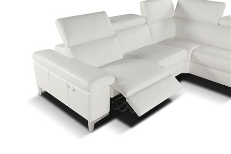 modern leather sectional sofa with recliners megane modern sectional right facing chaise giuseppe
