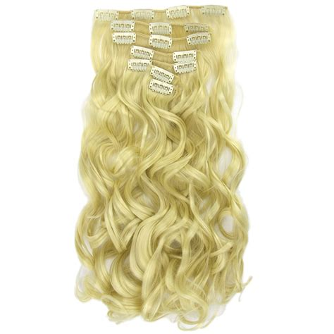 Soowee 16 Clips 7pcsset Long Curly Straight Synthetic