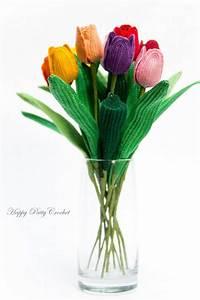 Crochet Tulip Pattern - Crochet Flower Pattern