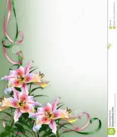 wedding invitation language lilies floral invitation background royalty free stock photography image 4820787