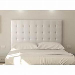 SOGNO Tête de lit capitonnée 140 cm Simili blanc Achat / Vente tête de lit SOGNO tête de lit