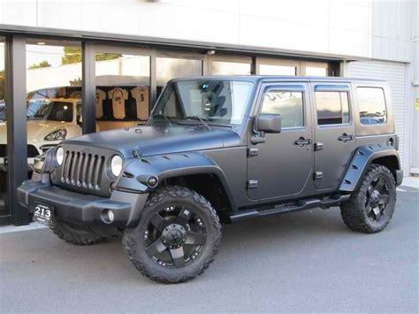 jeeps matte black matte black jeep wrangler vroom pinterest
