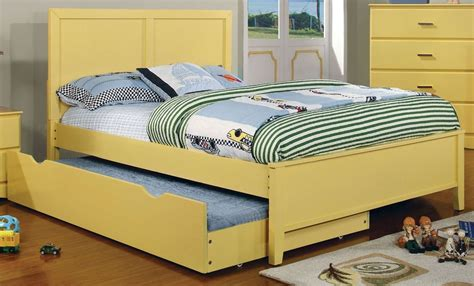 Prismo Yellow Youth Platform Bedroom Set From Furniture Of